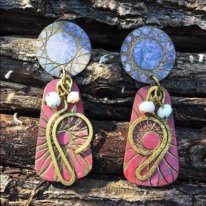 Jewelry - Super Cute Boho Earrings Gold Tone